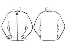 Wektorowy kurtka szablon odizolowywający na kreskowej sztuce Obraz Stock