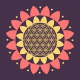 Wektorowy kwiat życie symbol na Naturalnym tle Obraz Stock