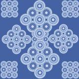 Wektorowy kwiatu abstrakt ornamentuje broderię Obrazy Royalty Free