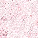 Wektorowy kwiatu wzór Bezszwowa botaniczna tekstura, ilustracja wektor