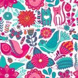 Wektorowy kwiatu wzór Bezszwowa botaniczna tekstura, wyszczególniać kwiat ilustracje Wszystkie elementy no cropped i no chują pod ilustracja wektor