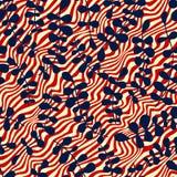 Wektorowy kwiecisty bezszwowy wzór z abstrakcjonistycznymi liśćmi Koloru vecto Zdjęcia Royalty Free