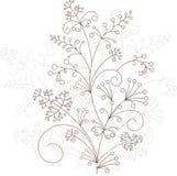 Wektorowy kwiecisty projekt, trawiasty ornament Obrazy Royalty Free