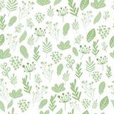 Wektorowy kwiecisty wzór w doodle stylu z kwiatami i liśćmi Delikatny, wiosny kwiecisty tło Obrazy Stock