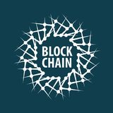 Wektorowy loga blockchain Obrazy Stock