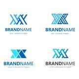 Wektorowy loga projekt dla biznesu literę x Dwa listu X Fotografia Royalty Free