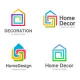 Wektorowy loga projekt Domowy wystrój, dekoracja Fotografia Stock