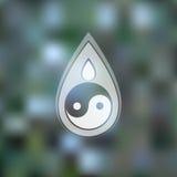 Wektorowy loga projekta szablon Abstrakcjonistyczna błękitne wody Fotografia Stock
