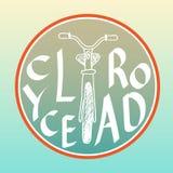 Wektorowy loga projekta szablon Sylwetka bicykl royalty ilustracja