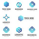Wektorowy loga szablon dla biznesu i logistyk Zdjęcia Stock