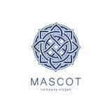 Wektorowy loga szablon dla butika, hotel, restauracja, biżuteria Luksusowy monogram, maskotka Zdjęcia Royalty Free