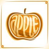 Wektorowy logo dla żółtego Apple Zdjęcie Royalty Free