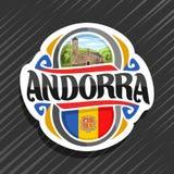 Wektorowy logo dla Andorra ilustracja wektor