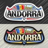 Wektorowy logo dla Andorra ilustracji