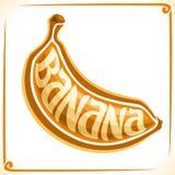 Wektorowy logo dla banana Zdjęcia Stock
