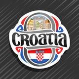 Wektorowy logo dla Chorwacja Zdjęcia Royalty Free