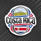 Wektorowy logo dla Costa Rica ilustracja wektor
