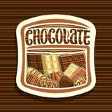 Wektorowy logo dla czekolady ilustracja wektor