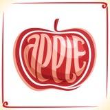 Wektorowy logo dla czerwonego Apple Zdjęcie Royalty Free