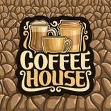 Wektorowy logo dla kawa domu Zdjęcia Stock