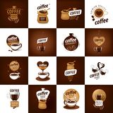 Wektorowy logo dla kawy ilustracja wektor