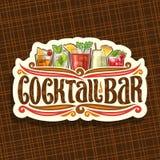 Wektorowy logo dla koktajlu baru ilustracja wektor