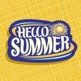 Wektorowy logo dla lato sezonu Zdjęcie Stock