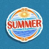 Wektorowy logo dla lato sezonu Fotografia Stock
