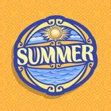 Wektorowy logo dla lato sezonu Zdjęcie Royalty Free