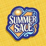 Wektorowy logo dla lato sezonu sprzedaży Obraz Royalty Free
