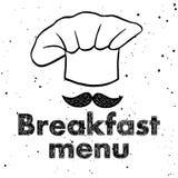 Wektorowy logo dla menu projekta royalty ilustracja