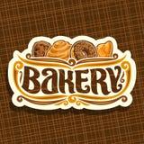 Wektorowy logo dla piekarni Zdjęcie Royalty Free