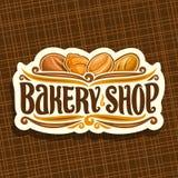 Wektorowy logo dla piekarnia sklepu Obrazy Stock