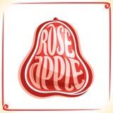 Wektorowy logo dla Różanego Apple Fotografia Royalty Free