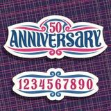 Wektorowy logo dla rocznicy Obraz Royalty Free