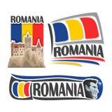 Wektorowy logo dla Rumunia ilustracja wektor