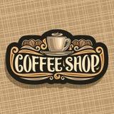 Wektorowy logo dla sklep z kawą Obrazy Royalty Free