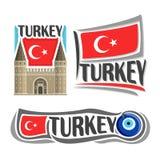 Wektorowy logo dla Turcja Zdjęcia Royalty Free
