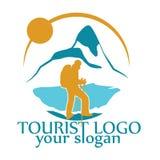 Wektorowy logo dla turystyki Zdjęcia Royalty Free
