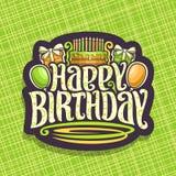 Wektorowy logo dla Urodzinowego wakacje Zdjęcia Royalty Free