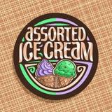 Wektorowy logo dla włoskiego lody Zdjęcie Royalty Free