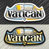 Wektorowy logo dla Watykan ilustracji