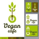 Wektorowy logo dla weganin kawiarni menu Zdjęcie Royalty Free