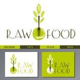 Wektorowy logo dla weganin kawiarni menu Zdjęcie Stock