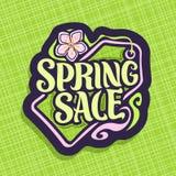 Wektorowy logo dla wiosny sprzedaży Obrazy Stock