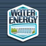 Wektorowy logo dla Wodnej energii Ilustracji