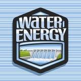 Wektorowy logo dla Wodnej energii Ilustracja Wektor
