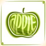 Wektorowy logo dla zielonego Apple Fotografia Stock