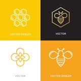 Wektorowy logo i pakować projektów szablony w modnym liniowym stylu ilustracja wektor