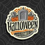 Wektorowy logo na Halloweenowym wakacyjnym temacie Obrazy Royalty Free
